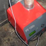 Pelltech Pelletbrenner PV 100 im Betrieb
