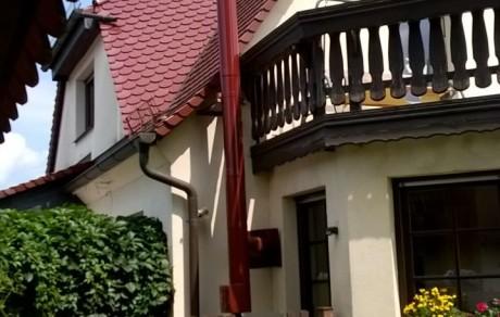 Schornsteinbau passend zum baulichen Ambiente