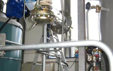 Abgasanlage für Industrie-Dampfkessel