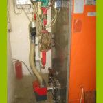 Pelletbrenner modifiziert überalteten Ölkessel