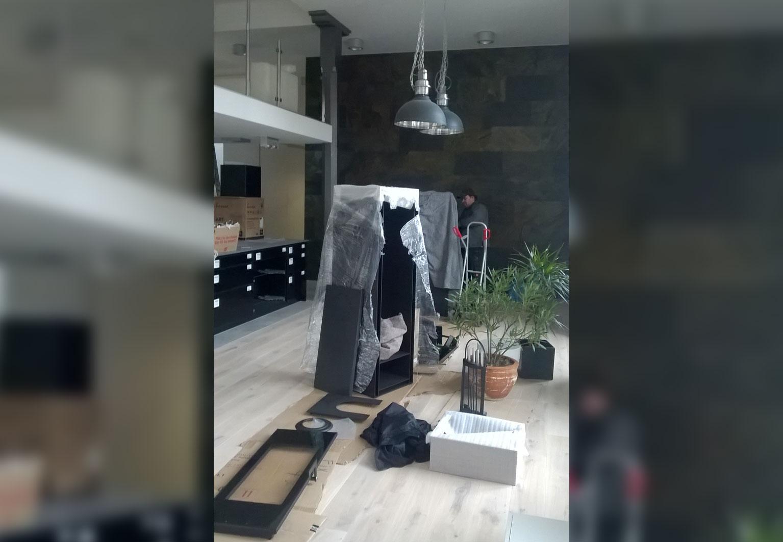 sfb rothenburg umbau eines kaminofens. Black Bedroom Furniture Sets. Home Design Ideas